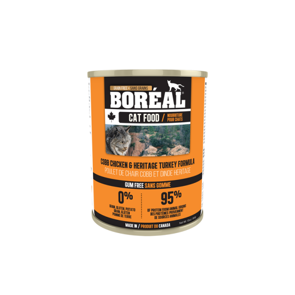 Boréal Cobb Chicken /Heritage Turkey Formula Canned Cat Food 369g