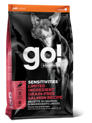 GO! SENSITIVITIES Limited Ingredient Grain FreeSalmon recipe for dogs  22 lb