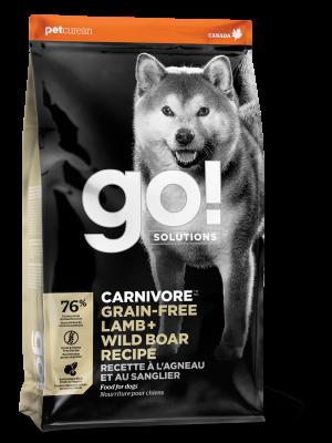 GO! CARNIVORE Grain Free Lamb + Wild Boar Recipe for dogs 22 lb
