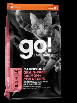 GO! CARNIVORE Grain Free Salmon + Cod Recipe for cats 16 lb