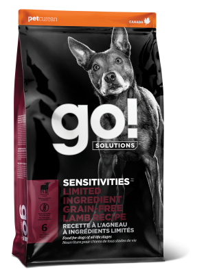GO! SENSITIVITIES Limited Ingredient Grain Free Lamb recipe for dogs
