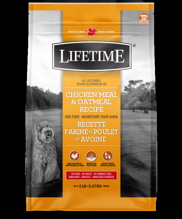 LIFETIME® Dogs Chicken & Oatmeal Recipe 11.4kg