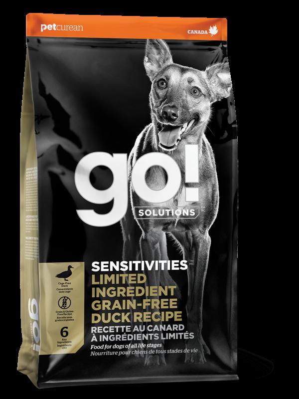 GO! SENSITIVITIESLimited Ingredient Grain FreeDuck recipe for dogs 22 lb