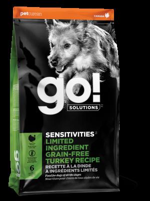 GO! SENSITIVITIESLimited Ingredient Grain FreeTurkey recipe for dogs 22 lb