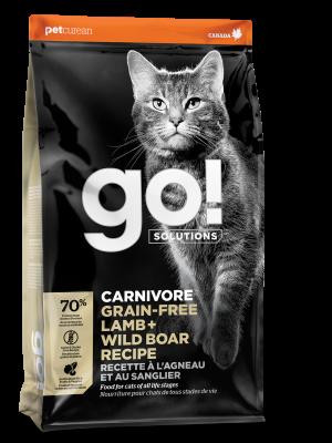GO! CARNIVORE Grain Free Lamb + Wild Boar Recipe for cats 16 lb