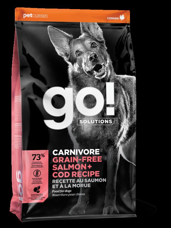 GO! CARNIVORE Grain Free Salmon + Cod Recipe for dogs