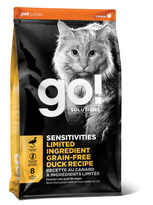 GO! SENSITIVITIES Limited Ingredient Grain FreeDuck recipe for cats